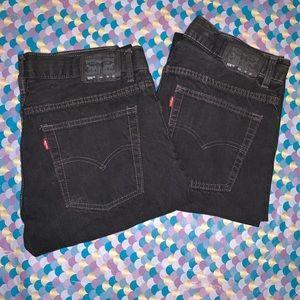 Bundle of 505 Regular Husky Boys Levi Denim Jeans